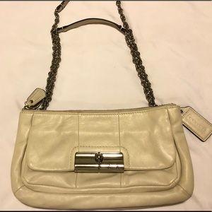 Coach Kristen White Leather Shoulder Bag